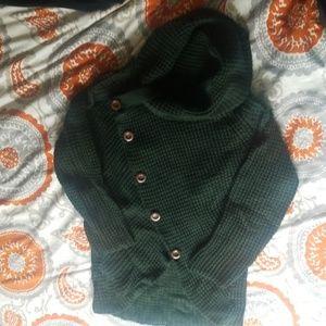 Hunter green turtleneck sweater